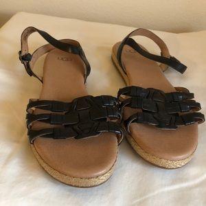 NWOT Ugg Black Sandals